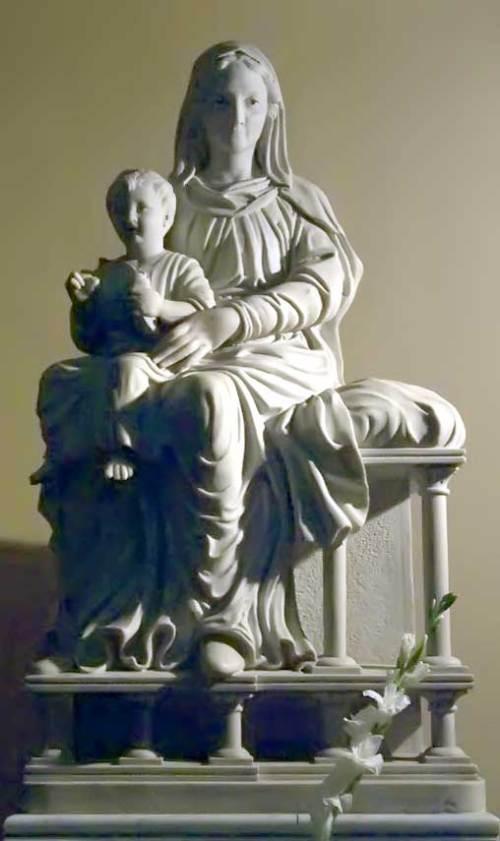Statua in Marmo - Madonna con Bambino Gesù